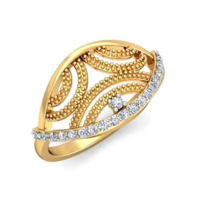 CYNTHIA DIAMOND COCKTAIL RING in 18K Gold