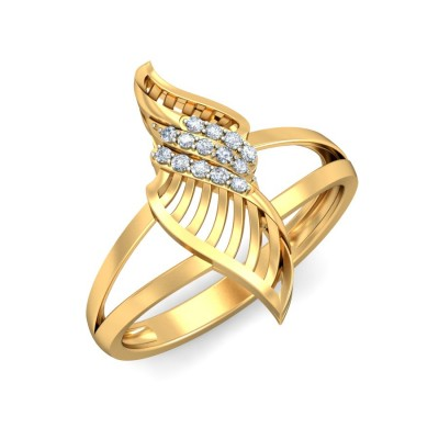 LUCIE DIAMOND CASUAL RING in 18K Gold