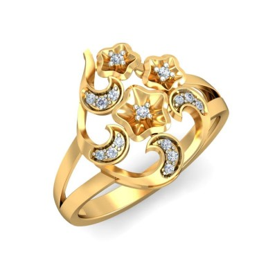 SAGARI DIAMOND COCKTAIL RING in 18K Gold
