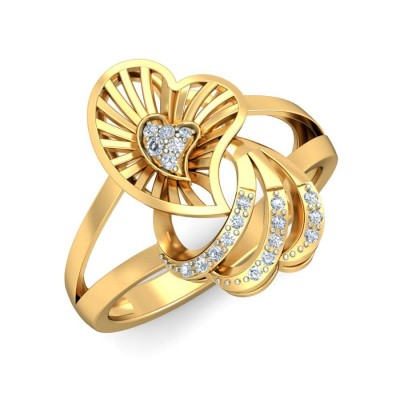 AVALYN DIAMOND COCKTAIL RING in 18K Gold