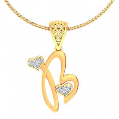 PARMILA DIAMOND INITIALS PENDANT in 18K Gold