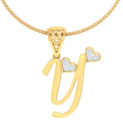 PAULMI DIAMOND INITIALS PENDANT in 18K Gold