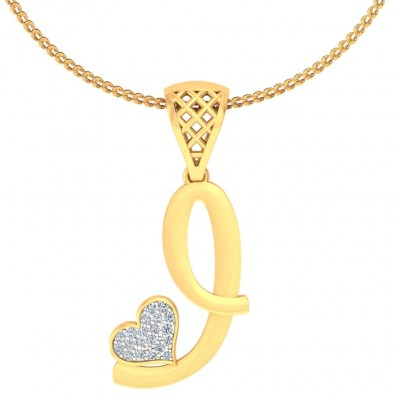 LEAH DIAMOND INITIALS PENDANT in 18K Gold